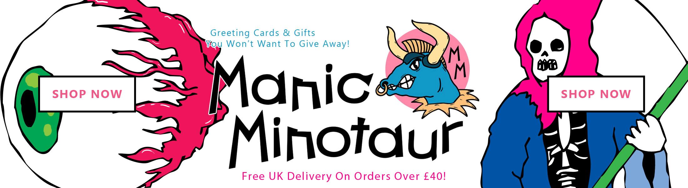 Manic Minotaur Homepage Banner