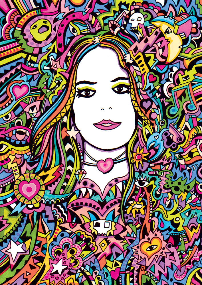 Rainbow Girl Illustration