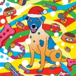 Christmas Party Dog Illustration
