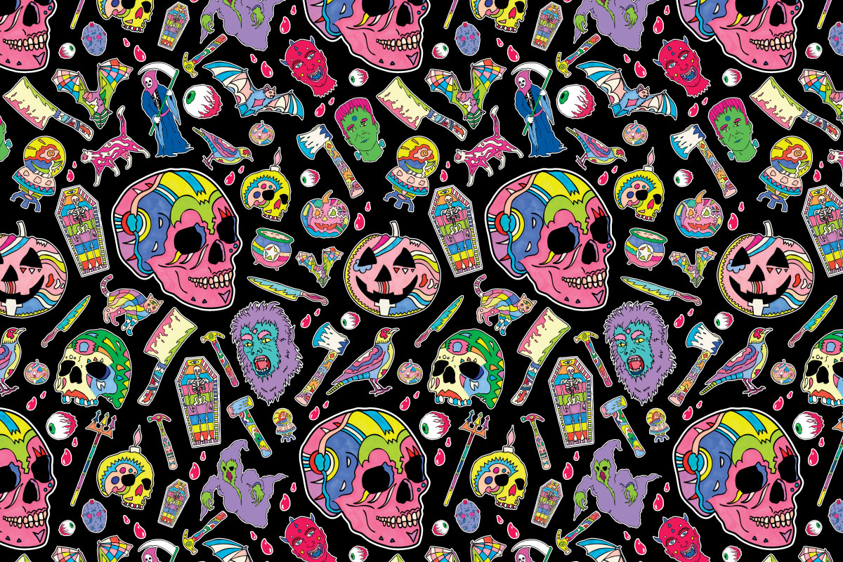 Illustration_Skull_Pattern