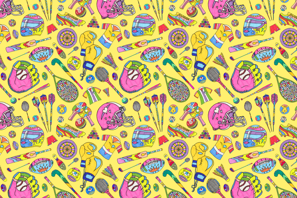 Illustration_Sports_Pattern_Yellow