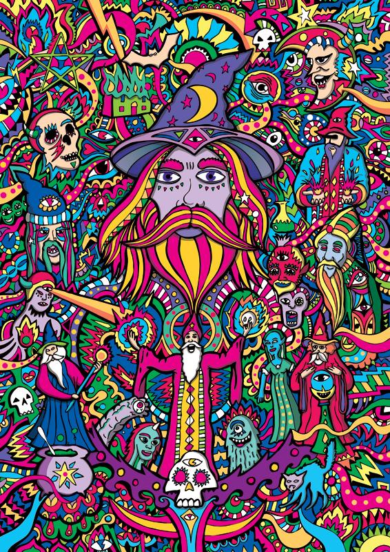 Purple Wizard Illustration