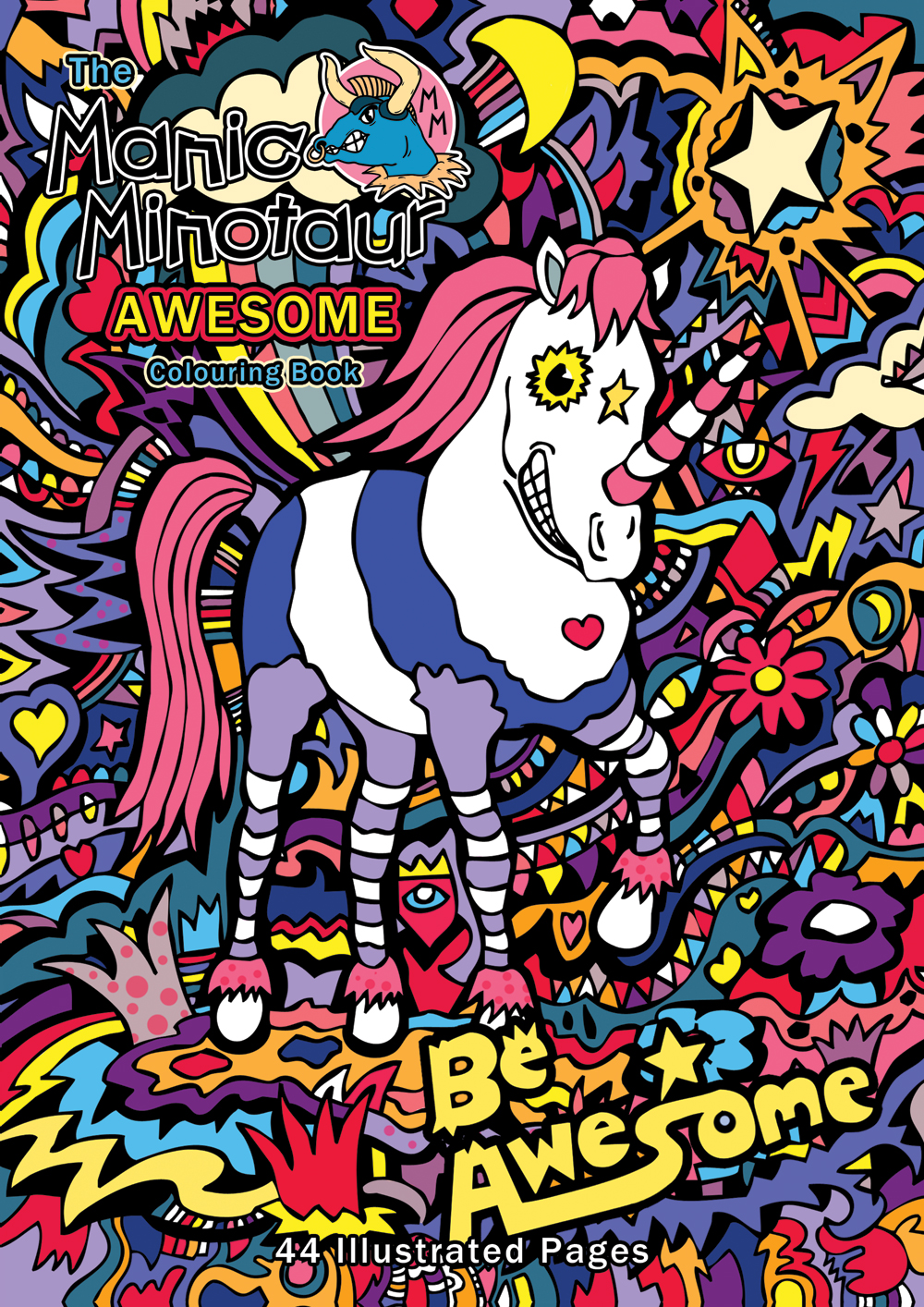 Manic Minotaur AWESOME Colouring Book