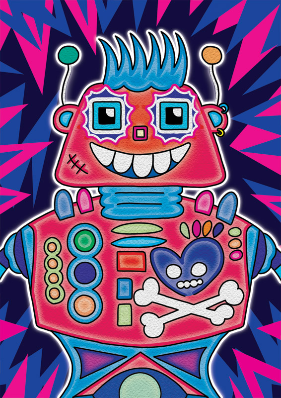Rebel Robot Illustration