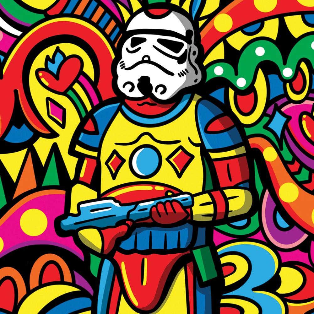 Disco Trooper Illustration By Manic Minotaur!