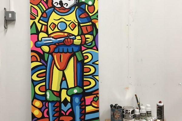 Disco Trooper Painting by Manic Minotaur