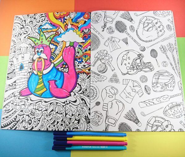 Manic Minotaur Colouring Book